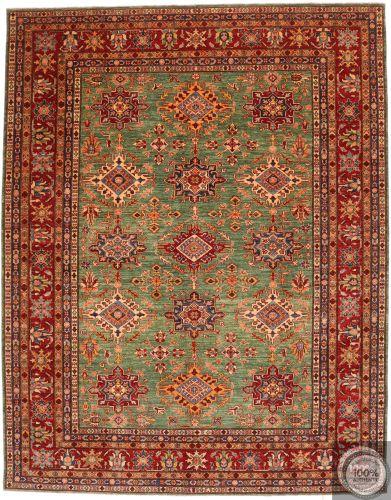 Caucasian Kazak design rug green