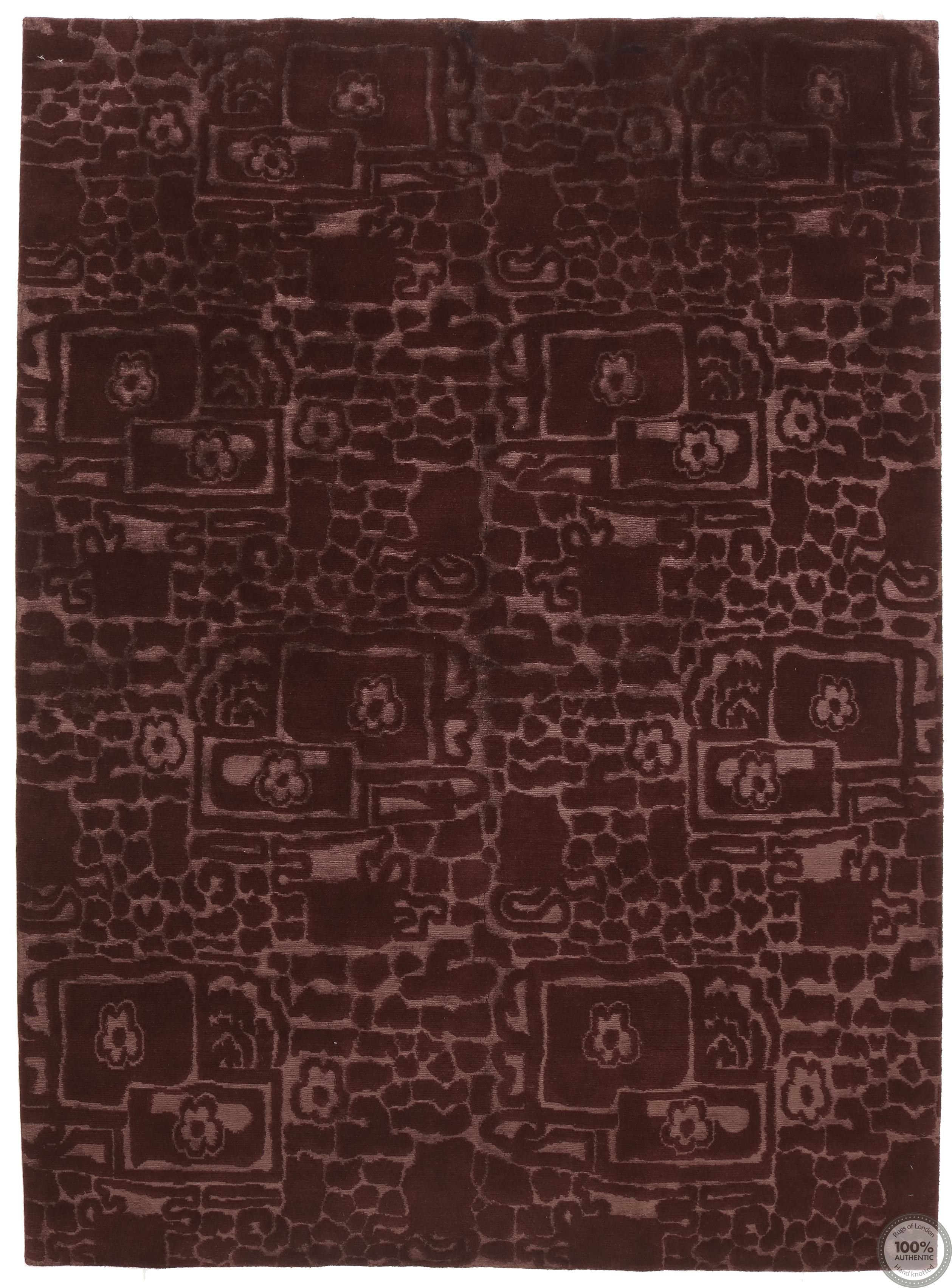 Modern Himalaya  part silk Brown- Front
