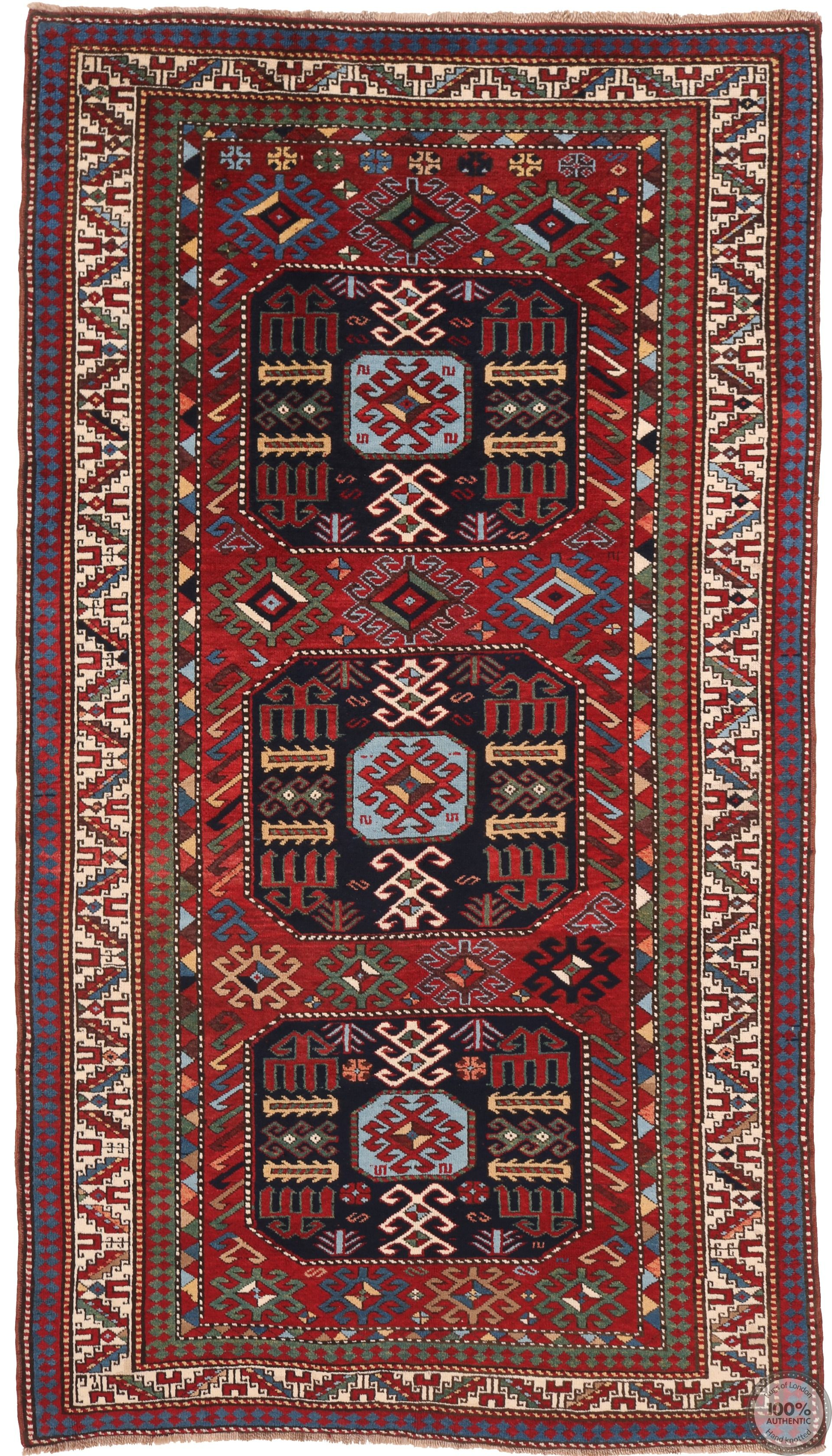 Caucasian / Kazak Antique Rug - 8'5 x 4'5