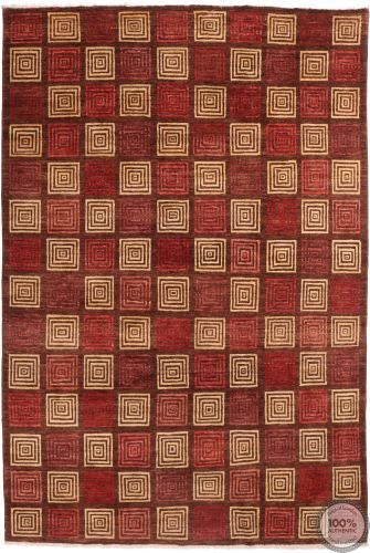 Modern Gabbeh with Square Design - flat large