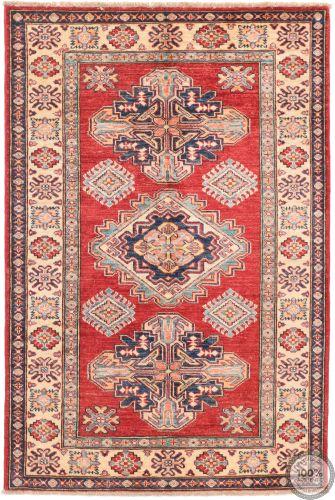 Caucasian Kazak design rug Red - 5 x 3'3