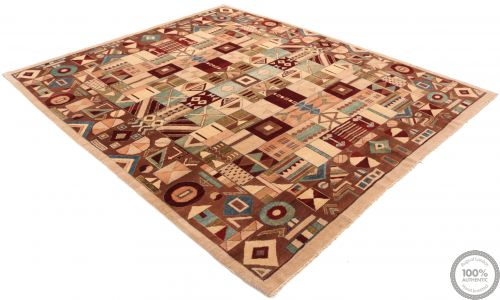 Modern Garous Geometric Design & Mixed Colours - flat vew