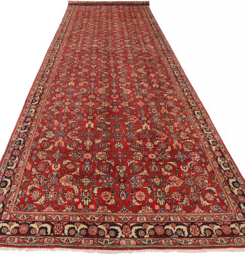Mahal runner rug red