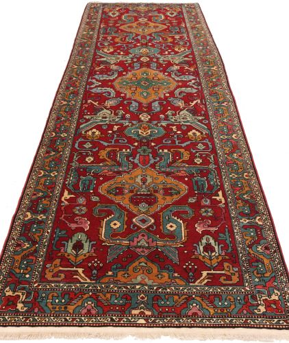 Caucasian Kazak Design Rug in Red