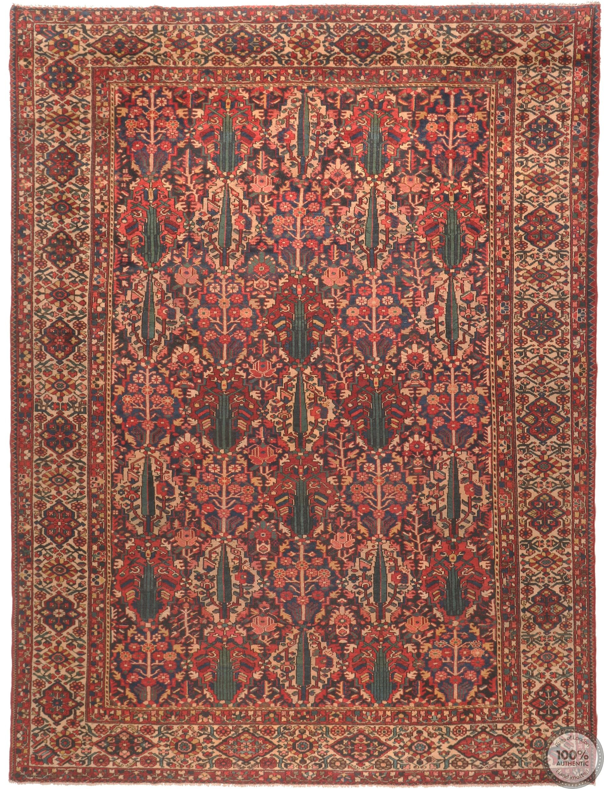 Persian Bakhtiar rug antique circa 1940