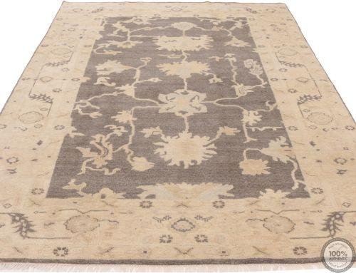 Oushak design rug - Beige & Grey