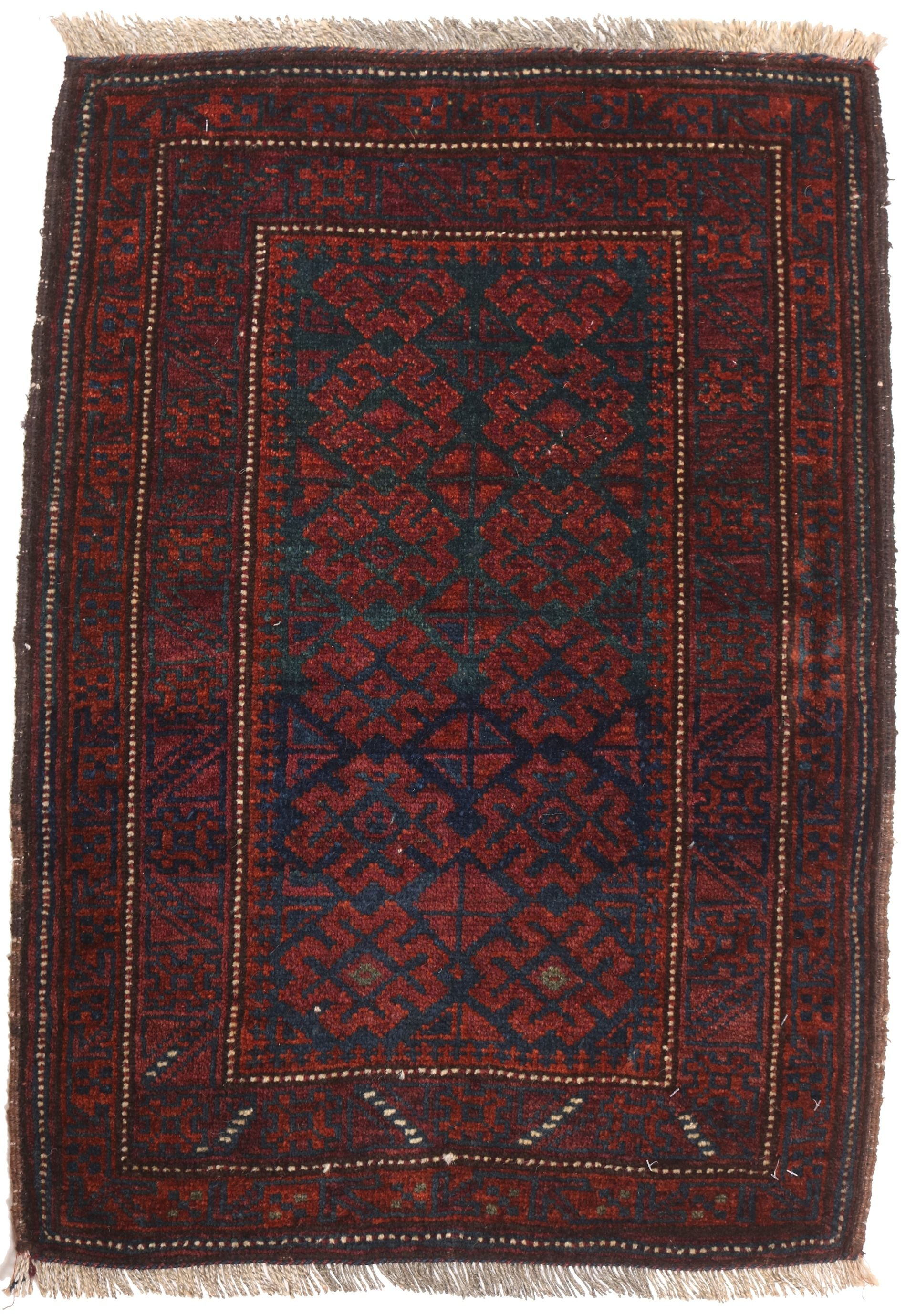 Balouch Baluch rug red - 3' x 2'1