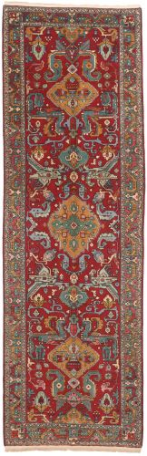 Caucasian Kazak Design Rug in Red - front