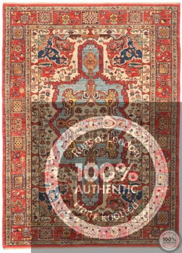 Shirvan Design Rug Biege / Light Red / Light Blue - front view