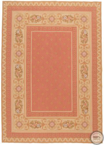 French Aubusson rug terracotta - Design 38