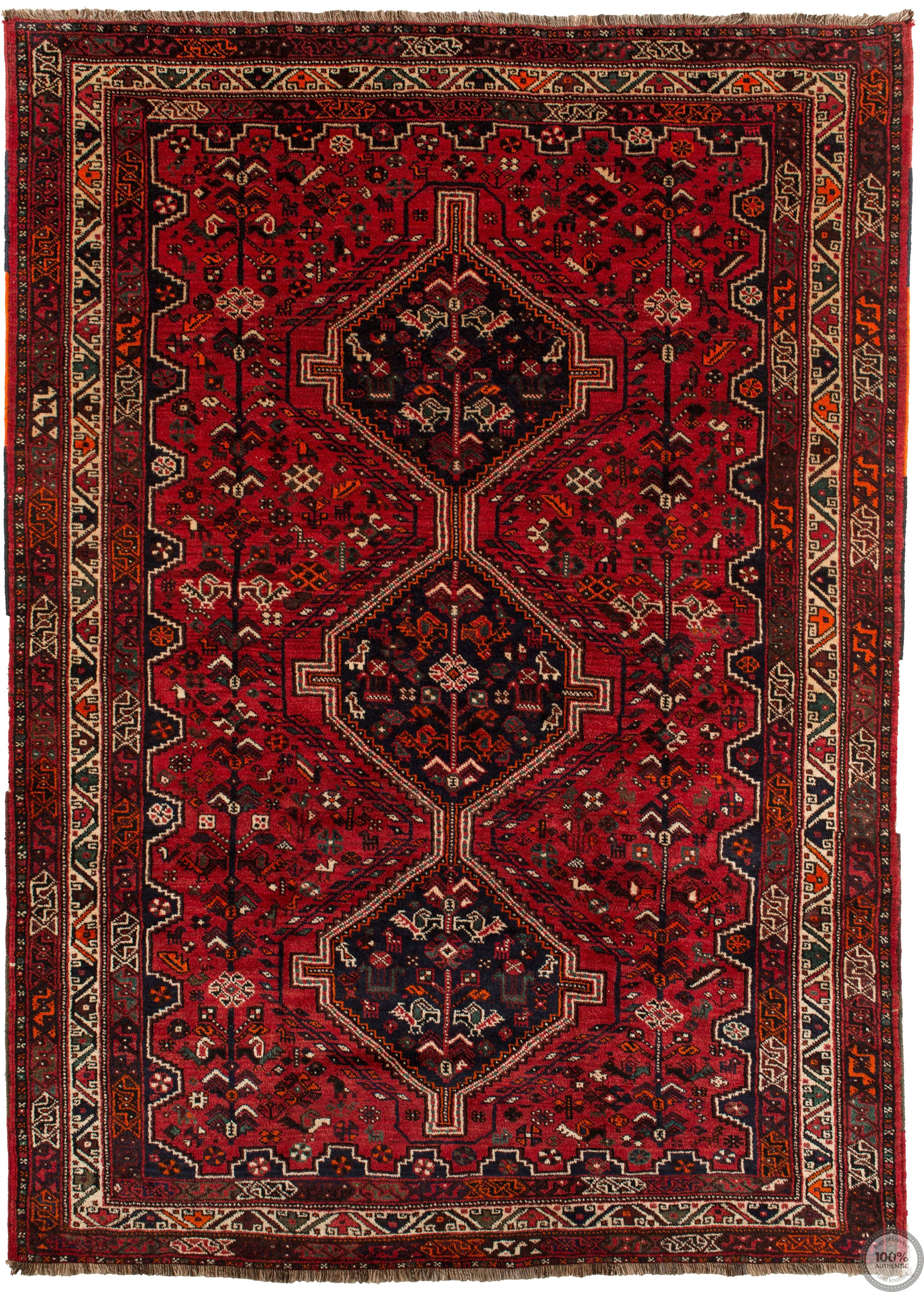 Shiraz rug red