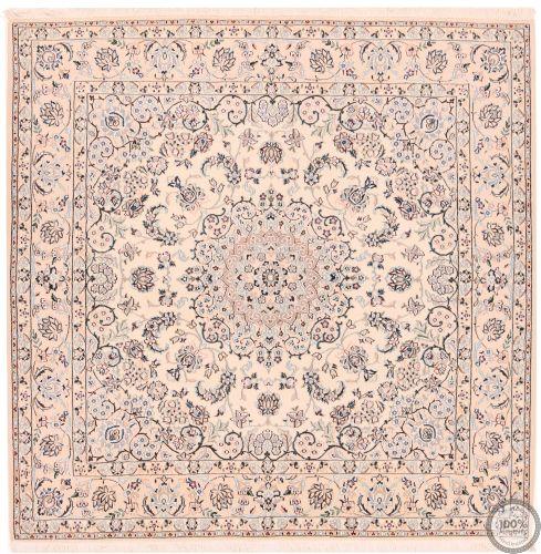 Persian Nain 6la rug with silk highlights - 6'6 x 6'5