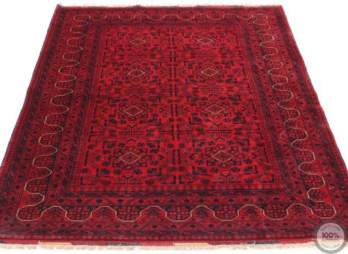 Khal Mohammad Afghan rug - Navy Motifs