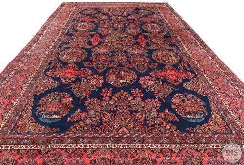 Antique Persian Keshan / Kashan rug - 10'3 x 16