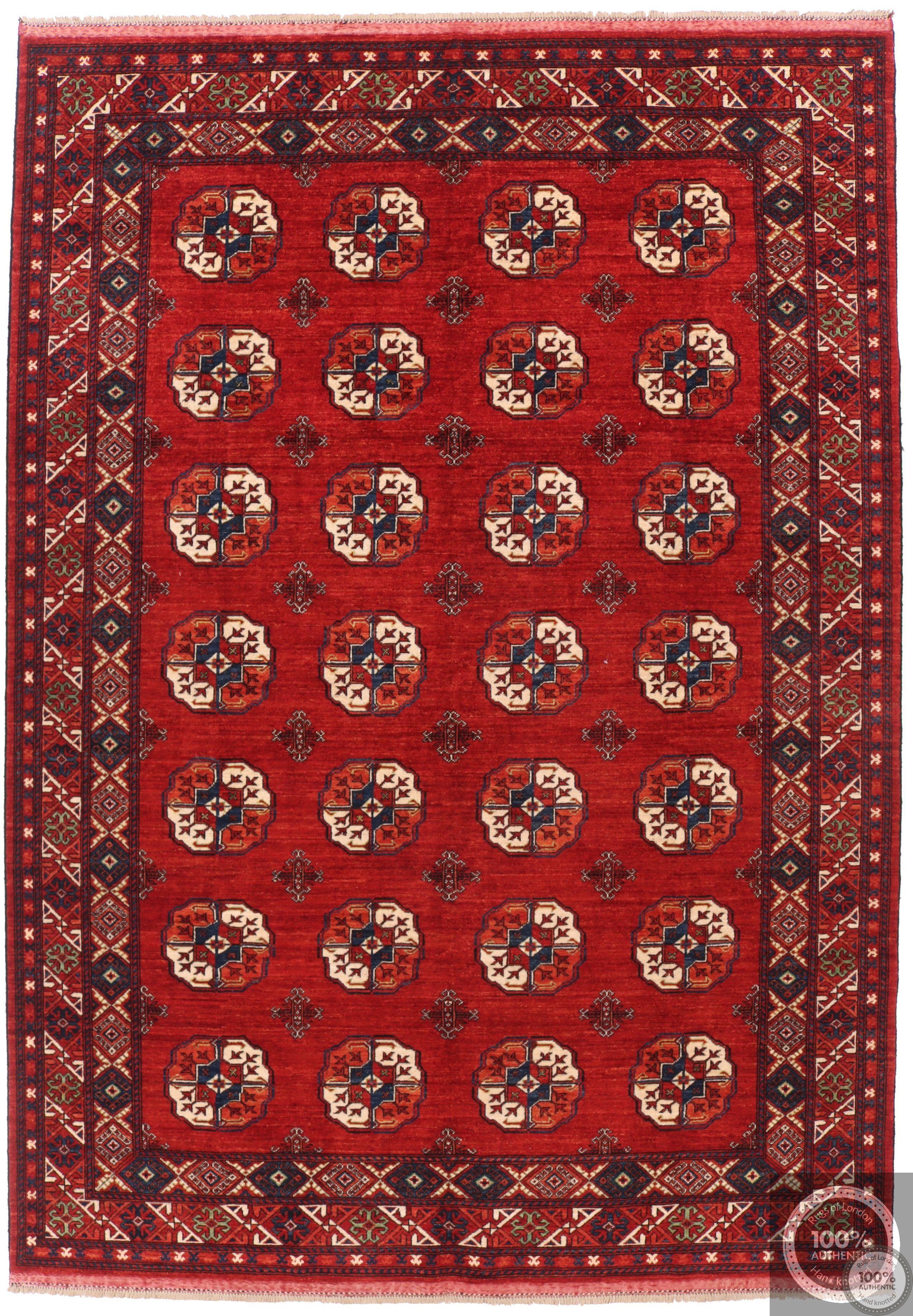 Ersari Design Afghan in Red