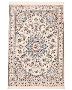 Fine Nain Persian Rug with Silk Highlights