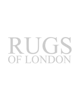 Persian Qum silk - Geometric Terracotta - front view