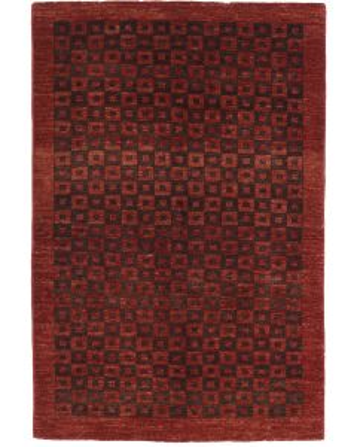 Garous Ziegler design modern rug - Burgundy & Brown