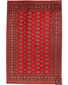Gul Design Bokhara Rug in red