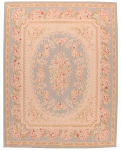 Blue Aubusson floral design 15 - 10'2 x 8