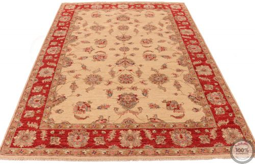 Garous Ziegler design rug - Red border 7'9 x 5'7