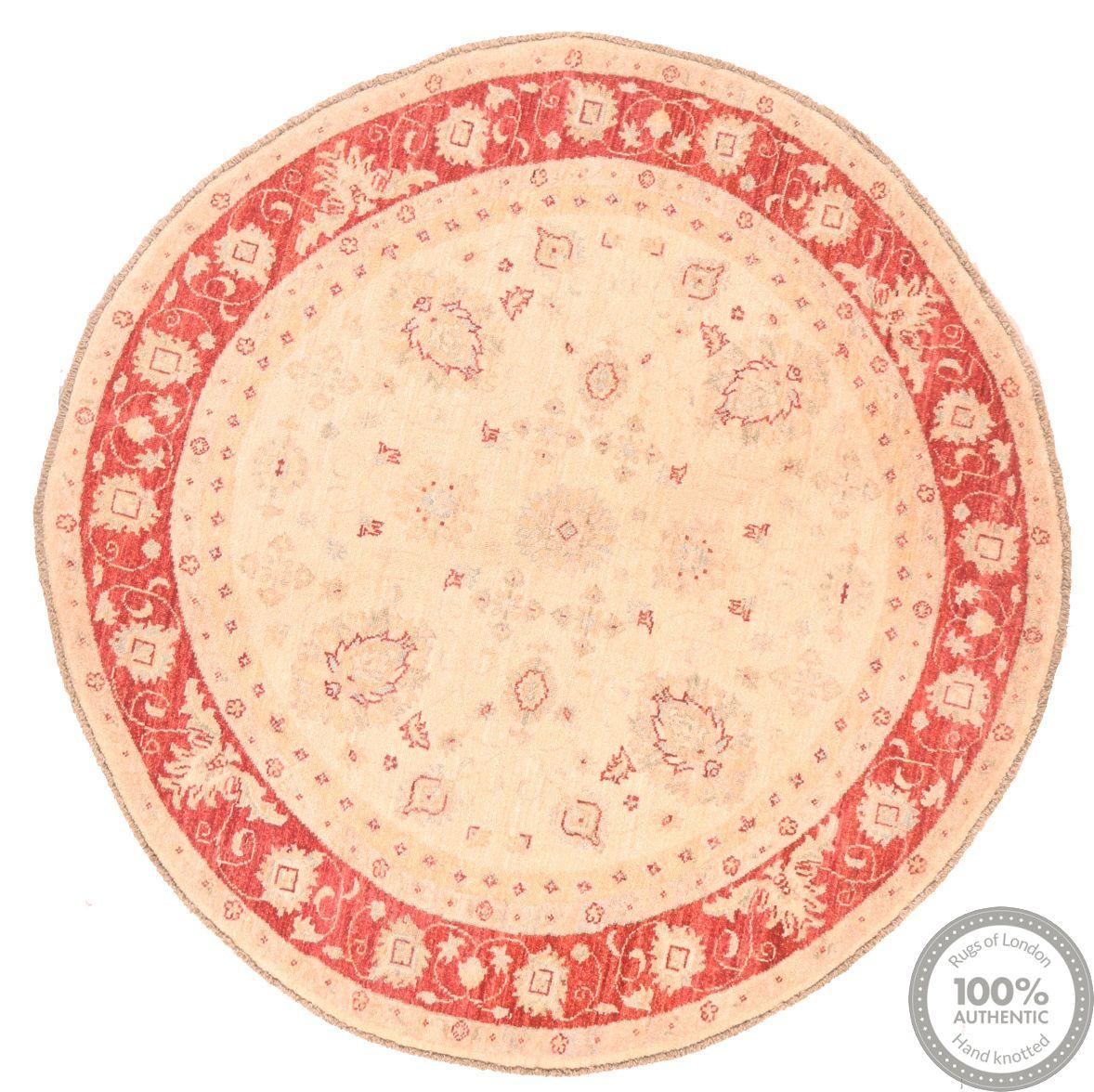 Circular Garous Ziegler design rug -  4'5 x 4'4