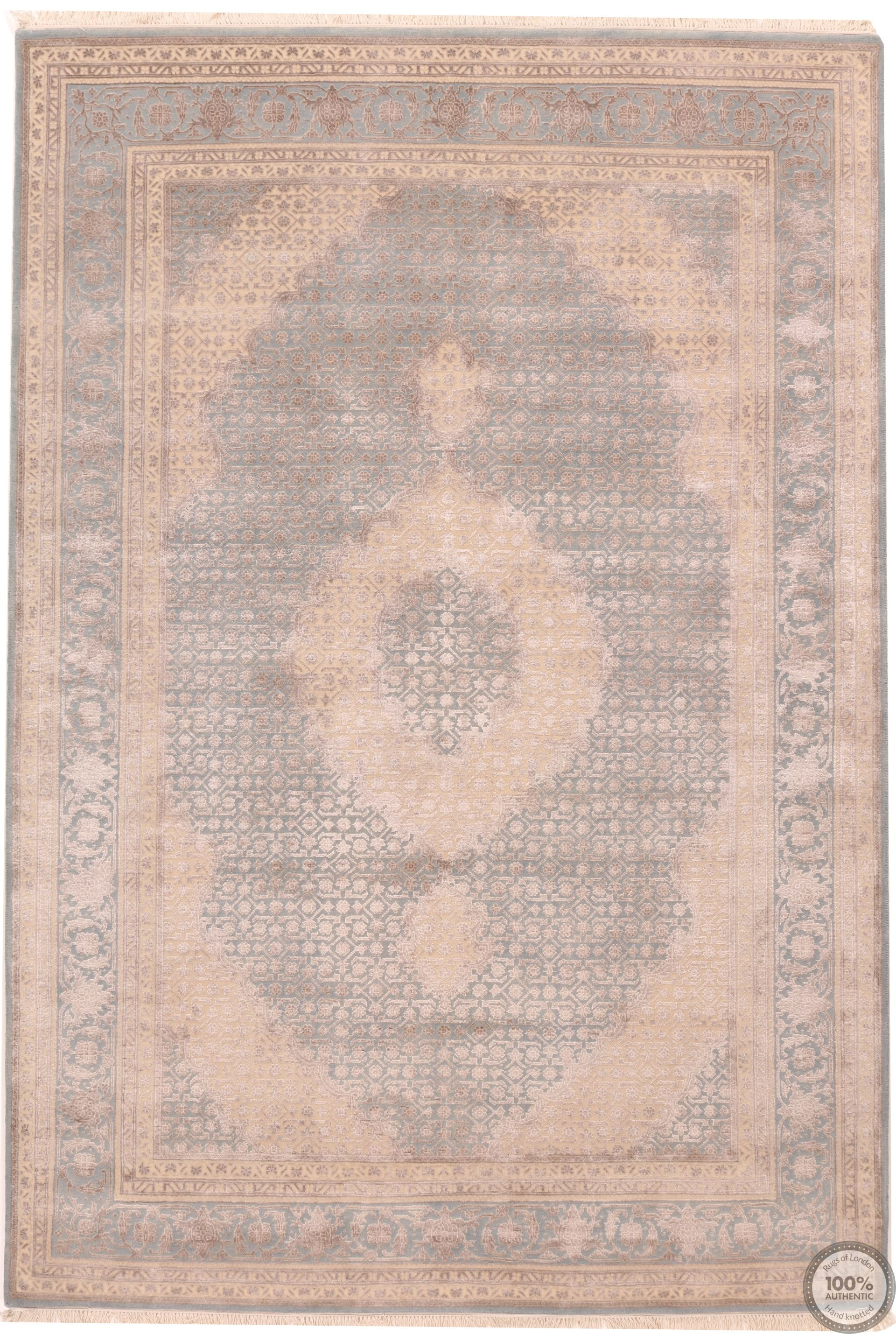 Tabriz design part silk - 8'1 x 5'5