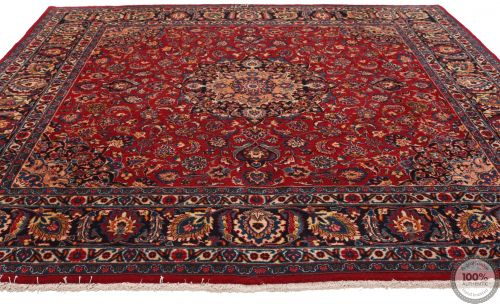Mashad rug red