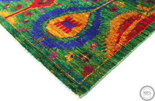 Sari Silk Green Fine rug - 5'6 x 7'9