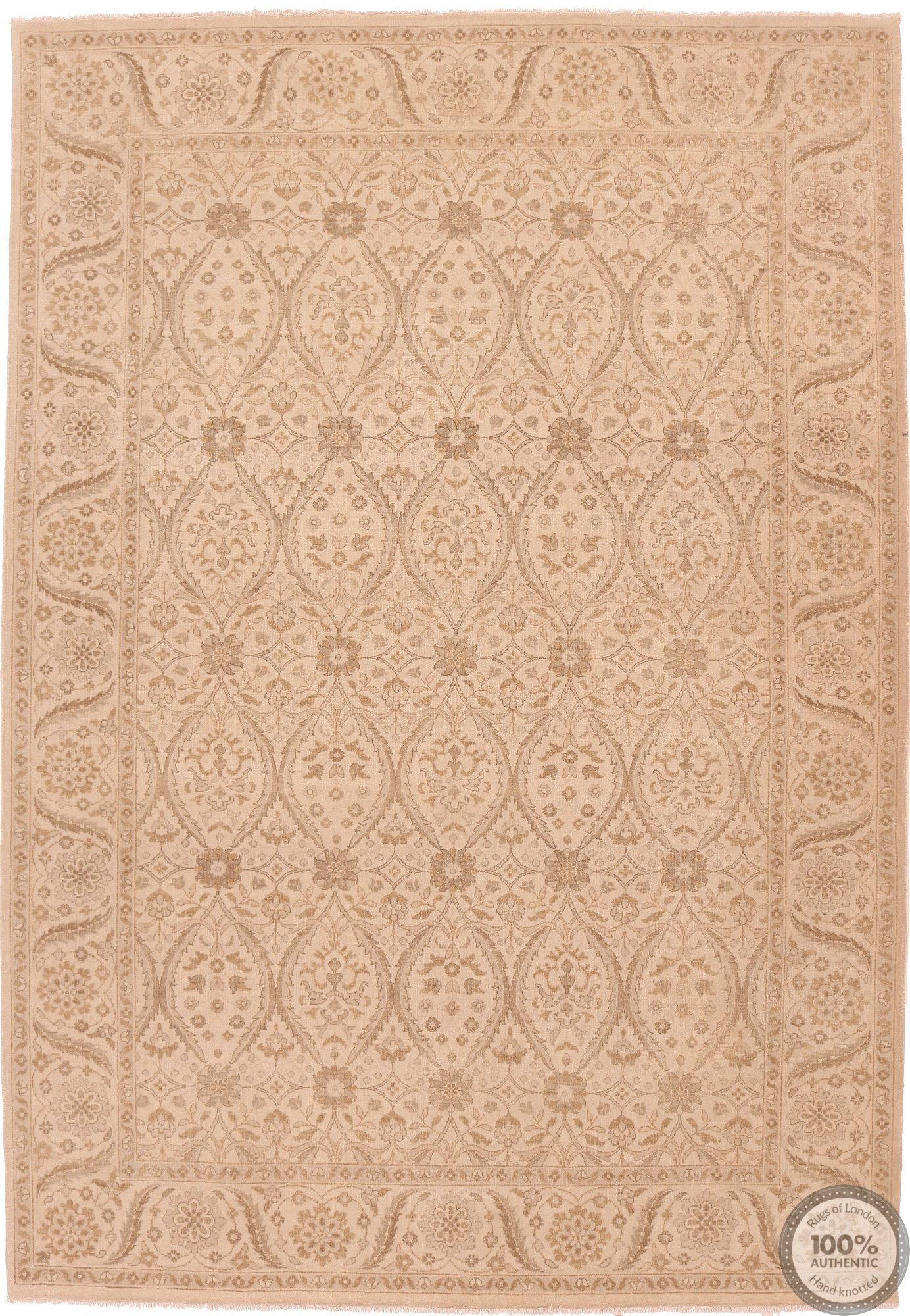 Fine Garous Ziegler design Indian rug - 9'1 x 6'4