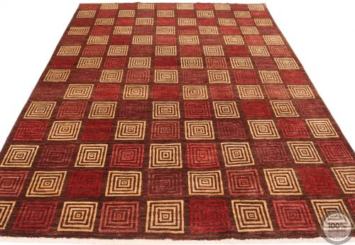 Modern Gabbeh with Square Design - flat