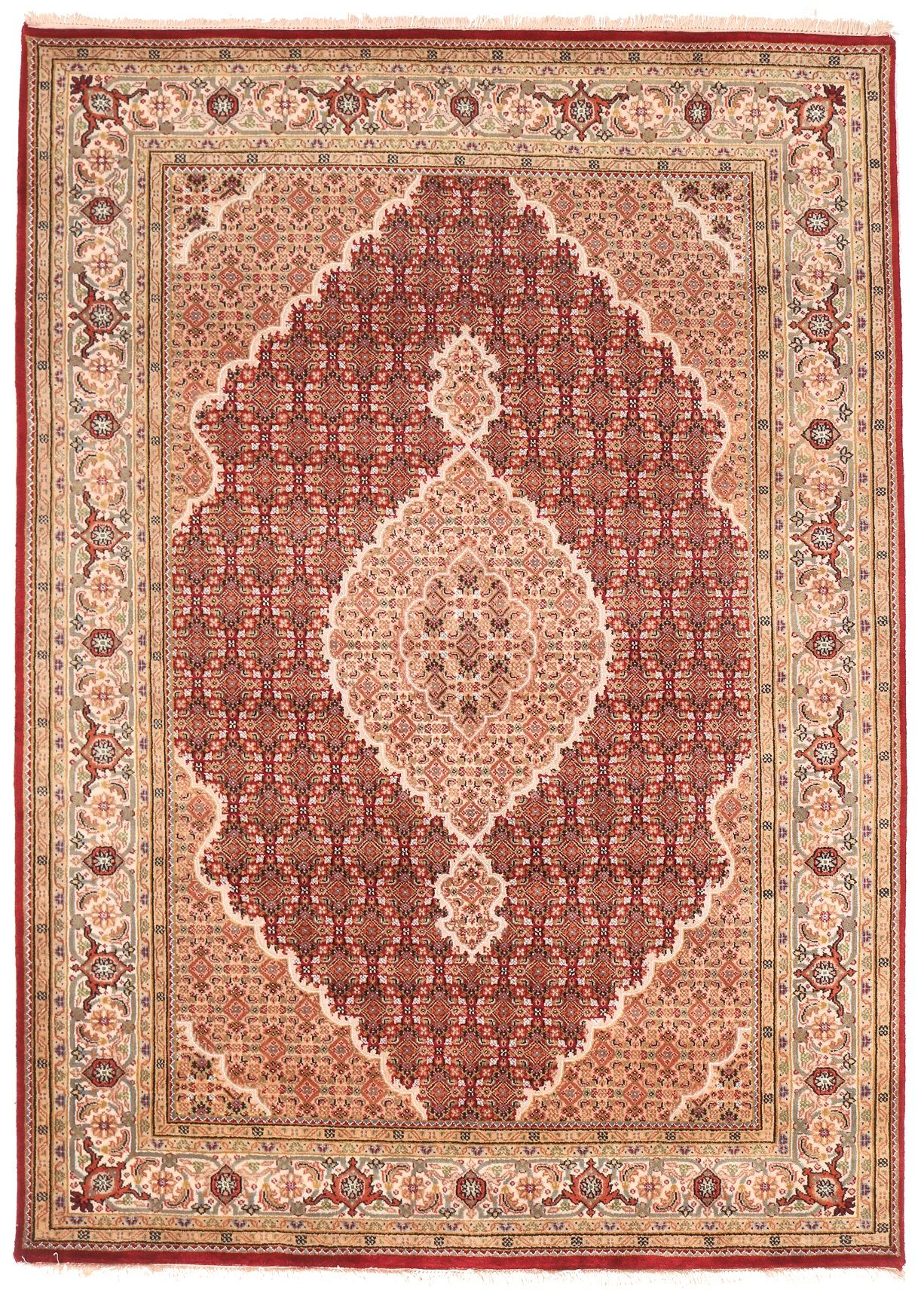 Persian Tabriz design Indian rug - 7'8 x 5'6