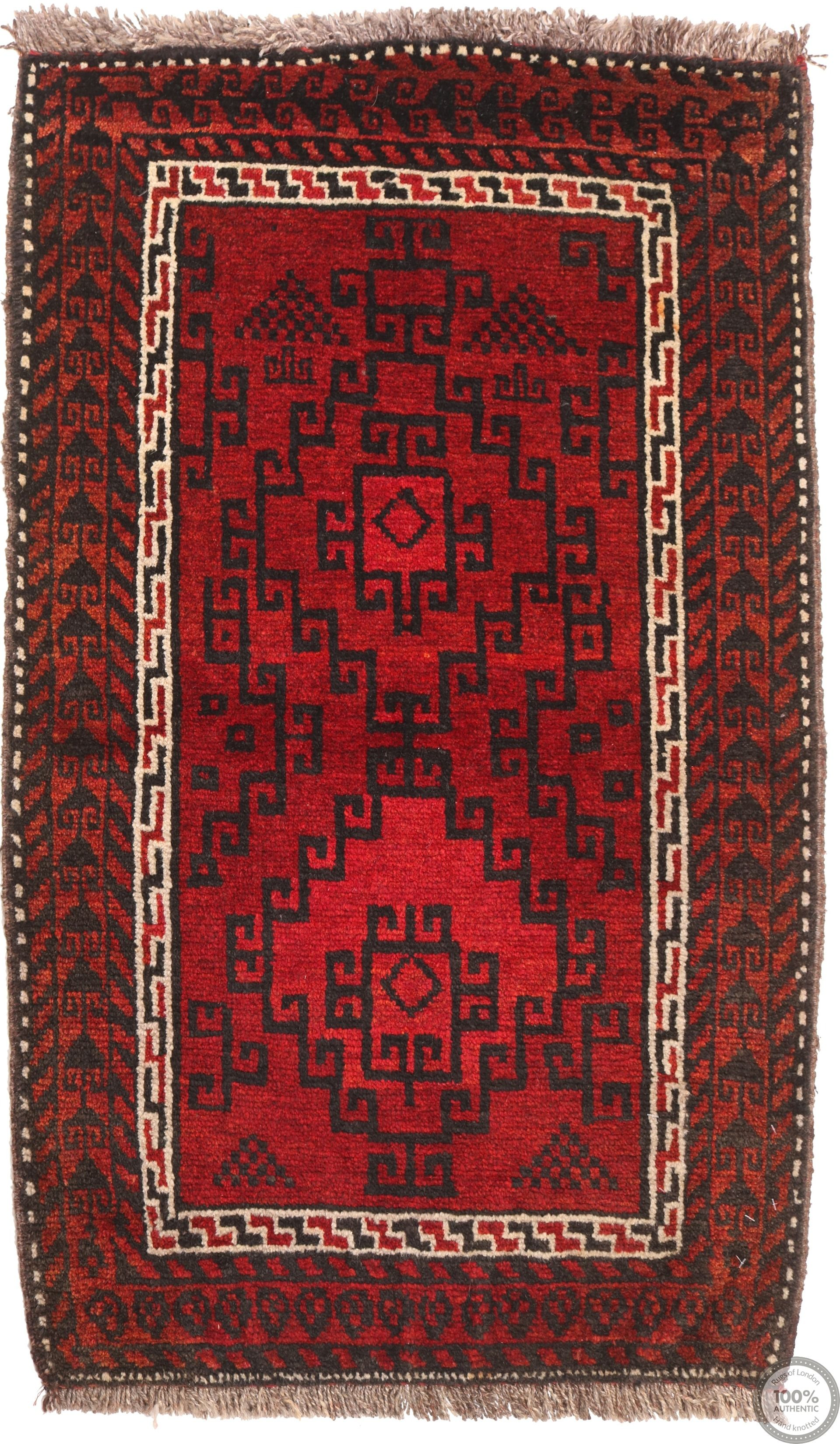 Balouch Baluch rug red - 3'5 x 1'8