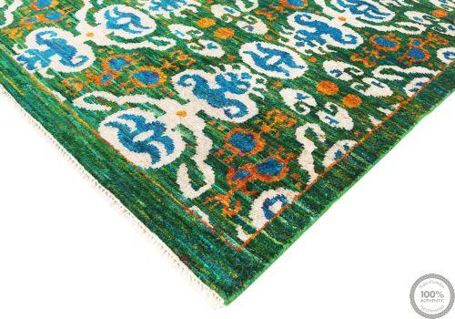 Sari Silk rug green - 8' x 5'4