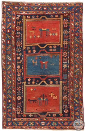 Caucasian Antique Rug - 6.5 x 4.17