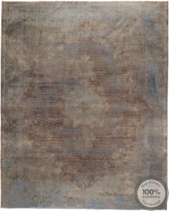 Stone Wash Distressed Grey Rug