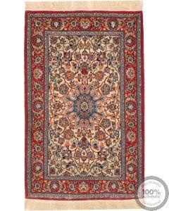 Isfahan silk base rug - 3'5 x 2'3