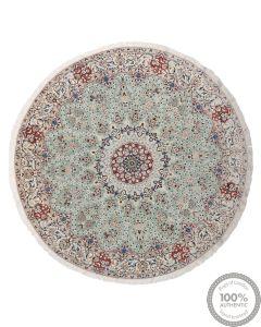 Persian Nain 9La rug with silk highlights - 8' x 8'