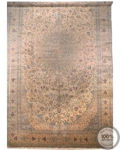 Persian Nain rug 100% silk 6La 28'7 x 16'7