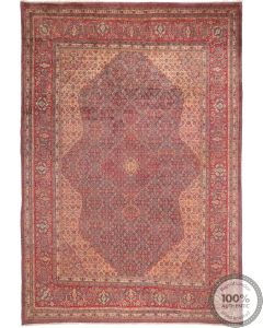 Persian Saruk rug - Pale Red - front view
