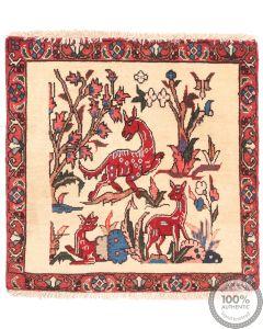 Kashgai Qashgai pictorial Persian rug beige