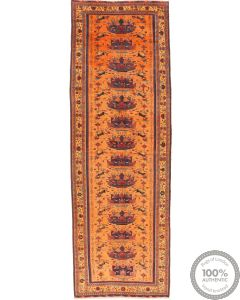 Kurdi Ghouchan rug runner yellow