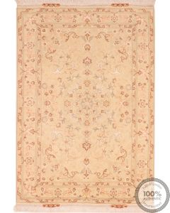 Tabriz floral with silk highlights - 4'6 x 3'3