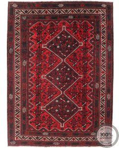 Persian nomadic Shiraz rug - Deep Red