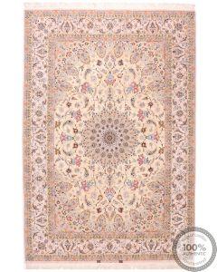 Fine Silk Base Isfahan Rug - 10' x 6'7