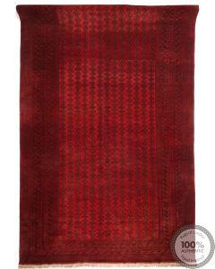 Afghan rug red