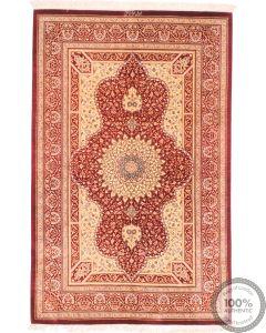 Qum silk rug - 4'8 x 3'1