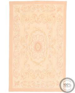 Aubusson rug floral design 4'9 x 2'9