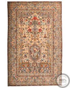 Persian Isfahan rug - 8'3 x 5'3