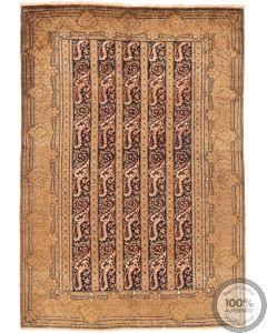Persian Qum silk - Floral Beige - front view